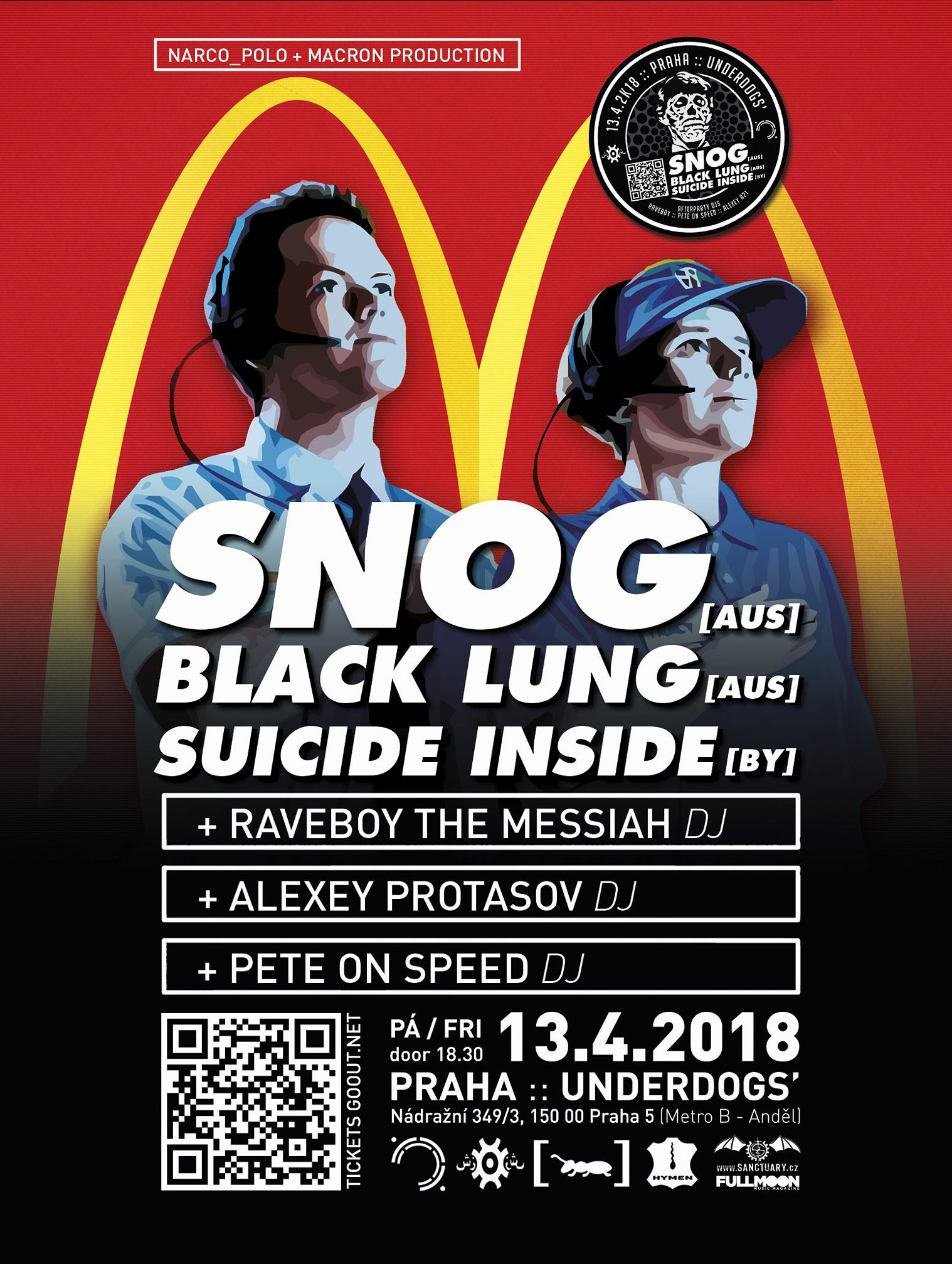 Snog, Black Lung, Suicide Inside